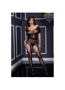 SexShop - Bodystocking jak z pasem do pończoch - Baci Crotchless Suspender Bodystocking  - online